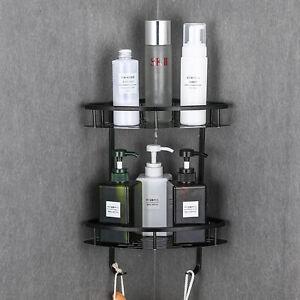 Bathroom Kitchen Shower Shelf Triangular Wall Corner Rack Organizer Holder New