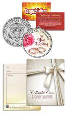 WEDDING CONGRATULATIONS Gift Keepsake JFK Kennedy Half Dollar US Coin