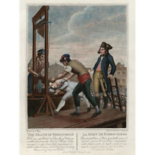 Execution Robespierre Guillotine French Revolution Canvas Wall Art Print Poster