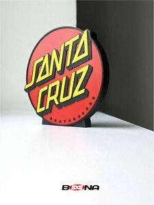 Decorative SANTA CRUZ Skateboards self standing logo display