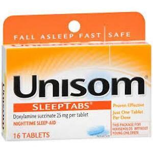 Unisom Nighttime Sleep Aid - 16 Tablets (3 Pack)