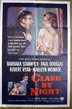 """CLASH BY NIGHT"" MONROE & STANWYCK in film noir's BEST ORIGINAL - Movie poster"