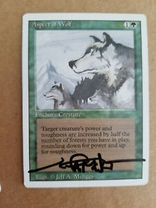 Aspect of Wolf Revised Edition SIGNED by Jeff Menges Magic MTG