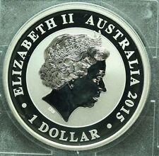 2015 Australian Kookaburra 15yr anniversary 1 oz .999 Fine Silver  Stk# WS8L3CLK