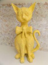 "Jeanne Valentine? Vintage Paper Mache Cat 3D Sculpture Mexico Folk Art 22"" Tall"