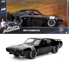 PLYMOUTH GTX presque & Furious Dom f8 and Noir Black 1:32 jada toys 98300