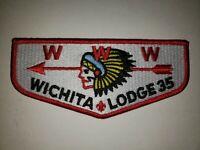 Boy Scout OA 35 Wichita Lodge New Brotherhood Flap