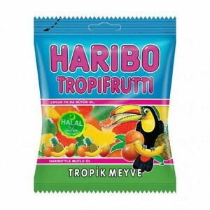 Haribo Tropifrutti Halal Chewy Sweets x12 Packets Made in Turkey parties