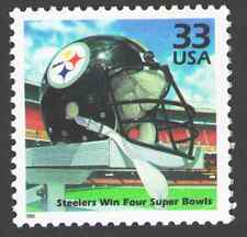 US. 3189 e. 33c. Pittsburgh Steelers win Four Super Bowls. Celebrate The Century