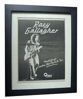 RORY GALLAGHER+TOUR+POSTER+AD+RARE ORIGINAL 1978+FRAMED+EXPRESS+GLOBAL SHIP