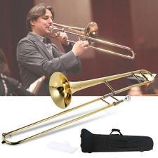 1pc ammoon Alto Trombone Brass Gold Lacquer BB Tone B Flat Wind Instrument X9d4