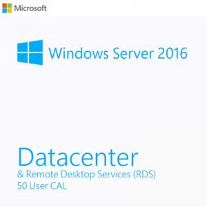 Windows Server Standard 2016 + Remote Desktop Services 50 User/Device RDS CALs