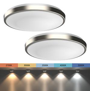 "2-PACK 11"" LED Ceiling Light Flush Mount   Adjustable Light Color   Dimmable"