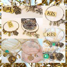 Steel Wire Bangle Charm Bracelet Wholesale Lot Fashion Jewelry Charms Gift Set