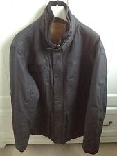 Next Black Cotton Jacket Coat Quilted Lining Thermal Warm Outdoor Men's XL Large