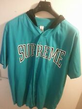 AUTHENTIC SUPREME BASEBALL HOODED JERSEY TOP XL USED GOOD CONDITION BIG LOGO