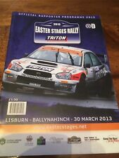 2013 Easter stages Rally  (Circuit Of Ireland) Programme Rare