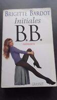 Brigitte Bardot Iniziali B.B.Memorie Grasset 1996 Be IN 8