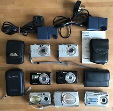 LOT Digital Cameras compact Canon Ixus Lumix Panasonic Olympus chargers & cases