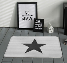 Scandinavian folklore styled:Star and stripes,pentagon door/floor mat,rug50x80cm