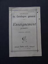 Catalogue 1898 ARMAND COLLIN Enseignemlent primaire Paris école school Schule