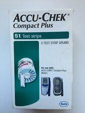 **READ LISTING** ACCU-CHEK Compact Plus Test Strips (3 drums), 51ct, SEALED NIB