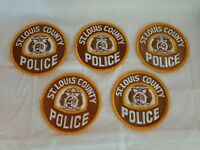 Vintage St. Louis County Missouri Police Patch MO Lot of 5 - New Old Stock