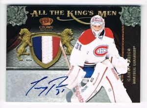2011-12 Crown Royale All The King's Men Autograph Patch #8 Carey Price 09/10 !!