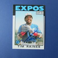 TIM RAINES 1986  O-Pee-Chee  # 280  signed  AUTO Montreal Expos OPC Yankees  HOF