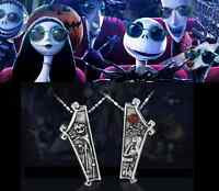 The Nightmare Before Christmas Jack & Sally Pendants Eternal Love Necklaces Gift