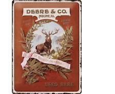 TARGHETTA in Lamiera 23168-John Deere-Deere & Co - 30 x 40 CM-NUOVO