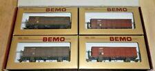 Bemo H0m 7455 100 Güterwagen Set Fb 8502 8523 8518 8504 der RhB ohne Ladung