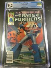 1984 Marvel Transformers #1 CGC 9.2 Canadian Price Variant 1st Appearance