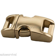 "Gold Color - 3/8"" Metal - Curved Top Buckle for Paracord Survival Bracelets"
