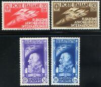 Regno d'Italia 1935 1° Salone Aeronautico Internazionale S81 n. 384/387 * (m954)