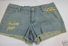 JESSICA SIMPSON DESTROYED FRAYED WITH LACE short  SIZE 31 NEW WITH TAG