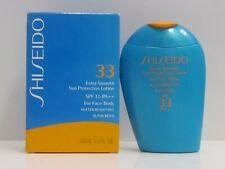 Shiseido Extra Smooth Sun Protection Lotion Spf 33 Pa+ For Face & Body 3.3 oz