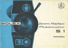 Bolex S 1 S1 Zoom Reflex Automatic Instruction Manual