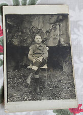 CPA photo garçon Bourbon Lancy Firmin Magny 1918