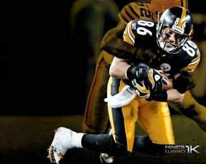 """Hines Ward Custom Getting Tackled With """"Hines Ward 1K"""" Unsigned 8X10 Photo"""