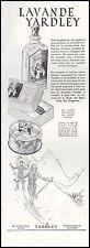 Publicité Parfum Lavande YARDLEY Ski Skieurs Sports d'hiver perfume ad  1931
