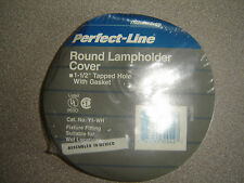 """Thomas & Betts, Y1-Wh, 4"""" White Round Weatherproof Cover One Hole 1/2"""" gasket"""