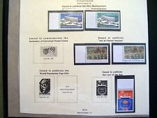United Nations Stamps 1974 5 Mint 2 Sets And A Part Set