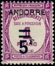 "ANDORRE FRANCAIS STAMP TIMBRE TAXE N°15 "" TIMBRE DE 1927-31 5F "" NEUF xx TTB"
