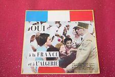 VINYL 45T  SOUPLE  OUI A LA FRANCE ET A L'ALGERIE