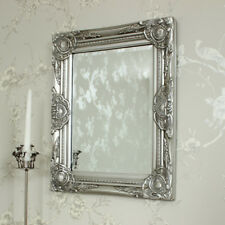 Silver wall mirror antique style furniture home hallway home accessory
