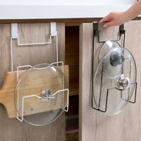 Cabinet Door Organizer Rack Pot Pan Lid Storage Holder Kitchen Organization HL