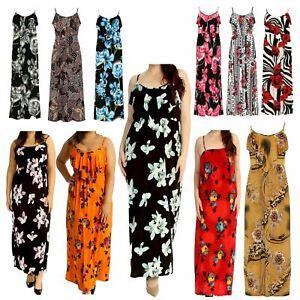 Plus Size Maxi Dress Ladies Summer Dresses Women Uk Frill Neck Casual Long Dress