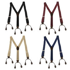 New Style Button Holes Link Men's Suspenders Adjustable Elastic Unisex Braces