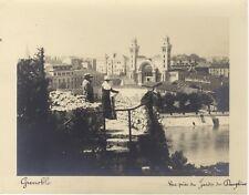 Grenoble Vue prise du Jardin Dauphins Vintage Argentique ca 1930